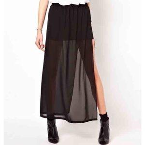 Sparkle & Fade Sheer Maxi Skirt